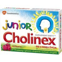 CHOLINEX JUNIOR, 16 pastylek do ssania - miniatura