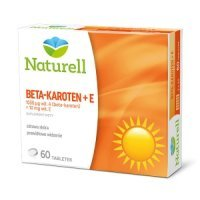 NATURELL Beta karoten + witamina E 60 tabletek - miniatura