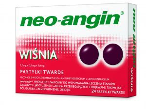 NEO-ANGIN WIŚNIA, 24 PASTYLKI DO SSANIA