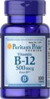 PURITAN`S PRIDE WITAMINA B12 500 mg, 100 tabletek - miniatura