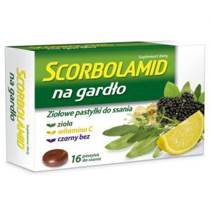 SCORBOLAMID NA GARDŁO, 16 tabletek do ssania